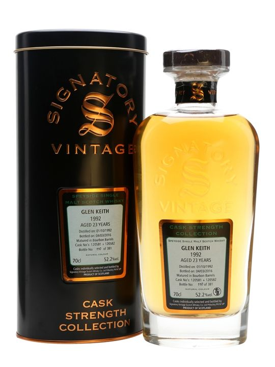Glen Keith 23 YO, 1992, Cask Strength, Signatory