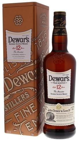 Dewars 12YO The Ancestor Metal Box