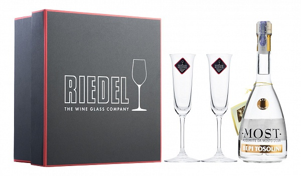 Bepi Tosolini Most Uve Miste + 2 Riedel Crystal Glasses
