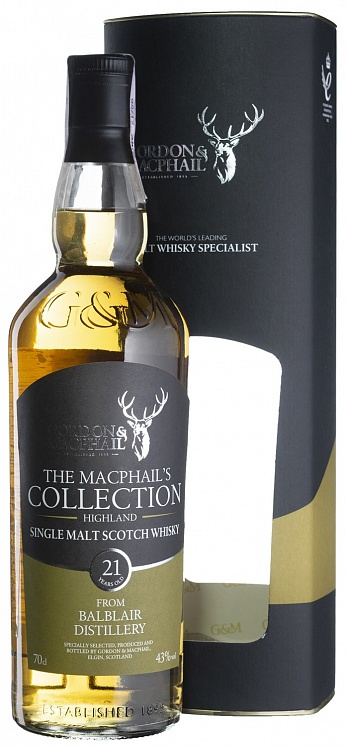 Balblair 21 YO Distillery Labels Gordon & MacPhail