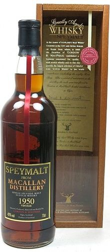 Speymalt from Macallan 58 YO 1950/2009 Gordon & MacPhail