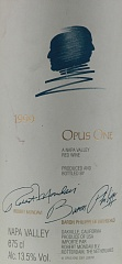 Вино Opus One Napa Valley 1999