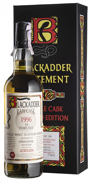 Springbank 19 YO 1996 Statement Raw Cask Blackadder