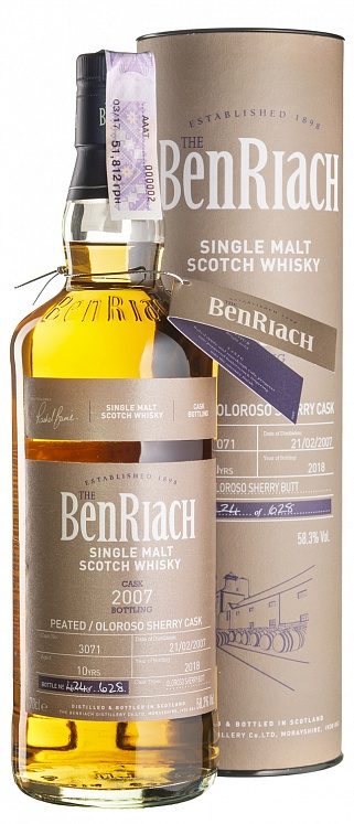 BenRiach 10 YO 2007/2018 Peated Oloroso Cask #3071