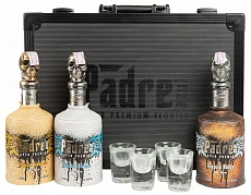 Текила Padre Azul Black Case Blanco + Reposado + Anejo + 4 Shots
