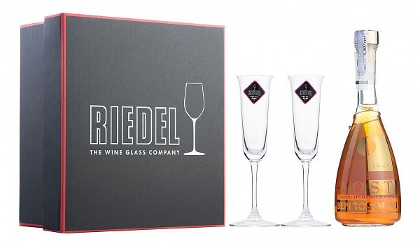 Bepi Tosolini Most Uve Miste Ciliegio/Cherry Barrique 2 Riedel Crystal Glasses
