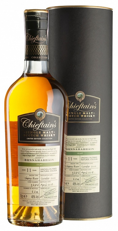 Bunnahabhain 11 YO 2006/2018 Sherry Butt Chieftain's Ian Macleod Distillers