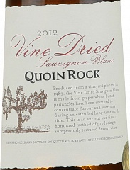 Вино Quoin Rock Sauvignon Blanc Vine Dried 2012, 500ml