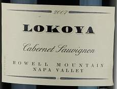Вино Lokoya  Cabernet Sauvignon Howell Mountain 2007
